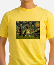 Starry Night Aussie Cattle Dog T-Shirt