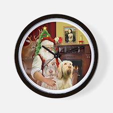 (R) - Santa - Spinone Italiano (TWO) Wall Clock