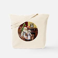 (R) - Santas Shih Tzus (THREE) Tote Bag