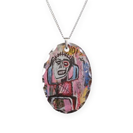 Untitled (Noise) Necklace Oval Charm