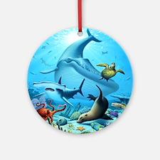 Ocean Life Ornament (Round)