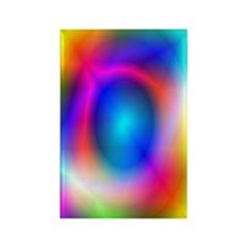 Rainbow Glow Rectangle Magnet