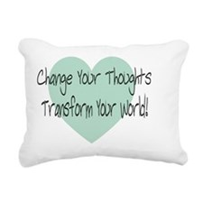 change with heart only Rectangular Canvas Pillow