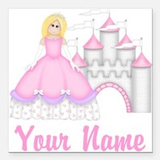 "Princess Personalized Square Car Magnet 3"" x 3"""