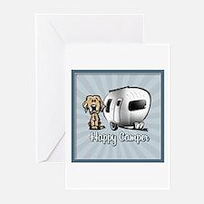 Happy Camper Dog Greeting Cards