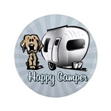 Happy camper dog Single