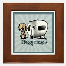 Happy Camper Dog Framed Tile