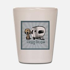 Happy Camper Dog Shot Glass