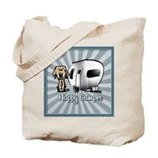Happy Camper Dog Tote Bag