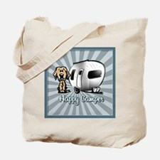 Happy Camper Dog Tote Bag