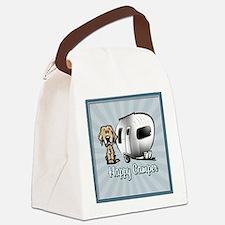 Happy Camper Dog Canvas Lunch Bag