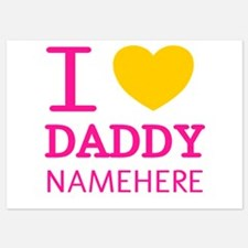 Personalized Name I Heart Daddy Invitations