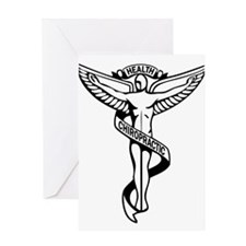 Chiropractic Symbol Greeting Cards