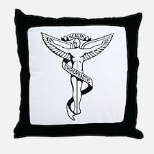 Chiropractic Symbol Throw Pillow