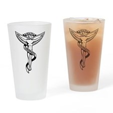 Chiropractic Symbol Drinking Glass