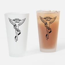 Chiropractic Symbol Drinking Glass