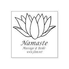 "Namaste3 Square Sticker 3"" x 3"""