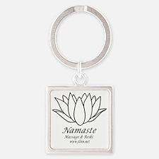 Namaste3 Square Keychain