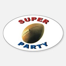 Super Football Party Oval Decal
