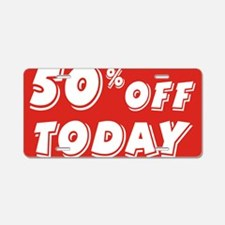 50% today Aluminum License Plate