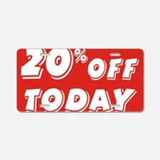 20% today Aluminum License Plate