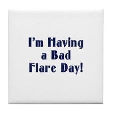 Bad Flare Day Tile Coaster
