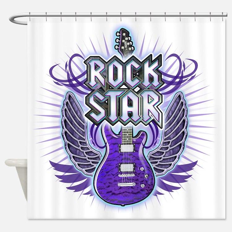 RockStar_Light Shower Curtain