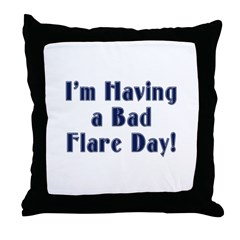 Bad Flare Day Throw Pillow