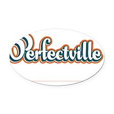 Perfectville_Dark Oval Car Magnet