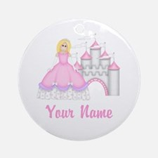 Princess Castle Personalized Ornament (Round)
