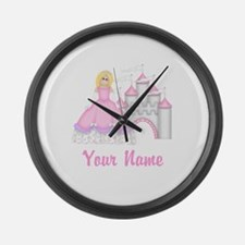 Princess Castle Personalized Large Wall Clock