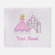 Princess Castle Personalized Throw Blanket