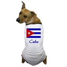 2-Cuba Flag Dog T-Shirt