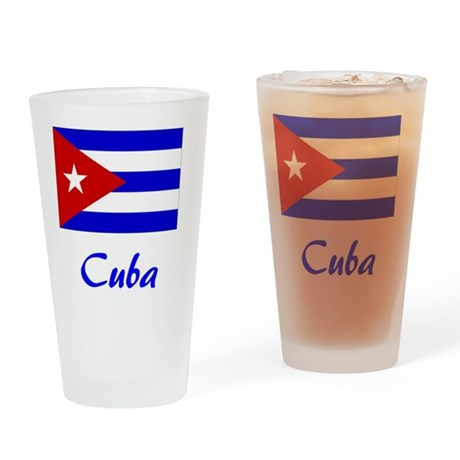 2-Cuba Flag Drinking Glass