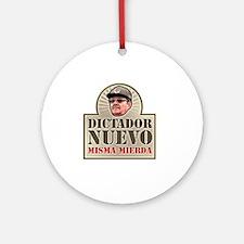 DictadorNuevo_Dark Round Ornament