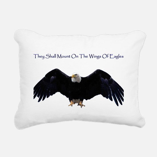 eagle wing spanhugetext Rectangular Canvas Pillow