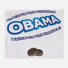 obama_oreo_dark Throw Blanket