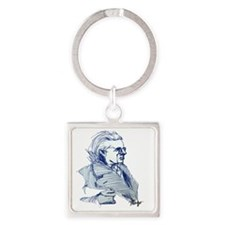 signed framed yeats Square Keychain