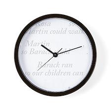 rosa_sat_dark Wall Clock