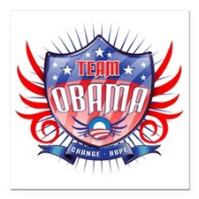 "obama_shield_dark Square Car Magnet 3"" x 3"""