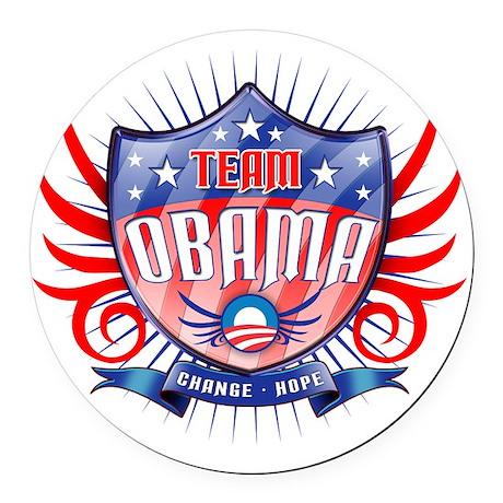 obama_shield_dark Round Car Magnet