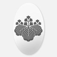 Paulownia with 5/3 blooms Sticker (Oval)