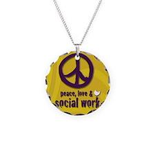 PeaceButton Necklace