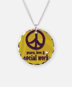 PeaceButton Necklace