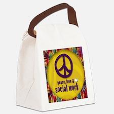 PeaceButton Canvas Lunch Bag