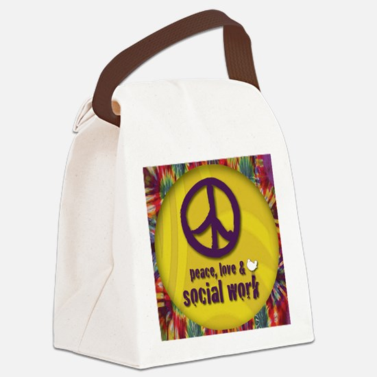 PeaceButton Canvas Lunch Bag