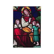 Jesus Blessing the Children Rectangle Magnet (10 p