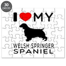I love My Welsh Springer Spaniel Puzzle