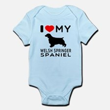 I love My Welsh Springer Spaniel Infant Bodysuit