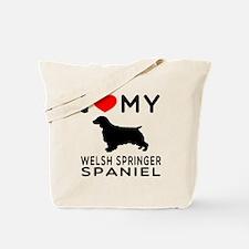 I love My Welsh Springer Spaniel Tote Bag